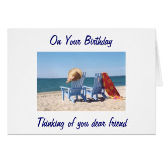HOPE YOUR BIRTHDAY IS LIKE A DAY AT THE BEACH CARD