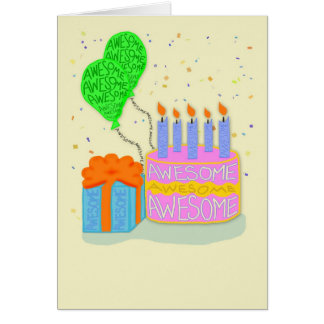 Hope Your Birthday is Made of Awesome Greeting Card
