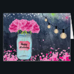 """Hope Your Birthday Sparkles! (Card) Card<br><div class=""""desc"""">A birthday card full of sparkle and shine,  featuring a beautiful bouquet of hot pink hydrangeas surrounded by the glitz of pink confetti,  hanging lights,  glistening stars,  and fireworks in the distance!  For a lover of all things pink,  sparkly,  and summer!</div>"""