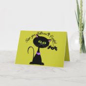 Hope your Halloween is Perrfect Greeting Card card