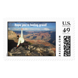 Hope you're feeling grand! postage stamp