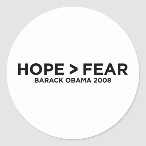 hopefear round stickers