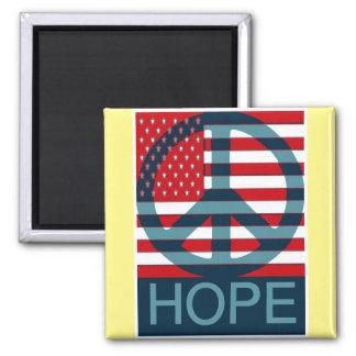 Hopeful 2 Inch Square Magnet