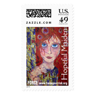 HOPEFUL MAIDEN postage stamp with FORCE info