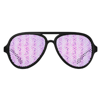 Hopeful Purple Vintage Floral Aviator Sunglasses