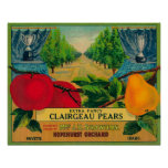Hopehurst Pear Crate LabelPayette, ID Poster
