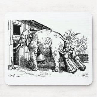 Hopeless - Elephant pushed thru small door Mouse Pad