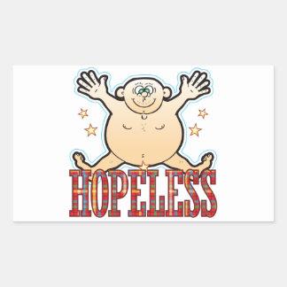 Hopeless Fat Man Rectangular Sticker