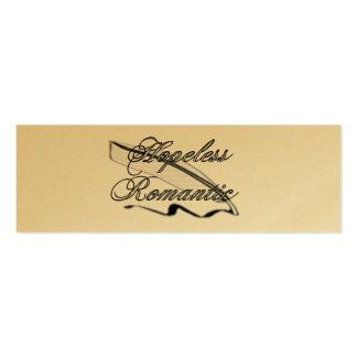 Hopeless Romantic Bookmark Business Card Template