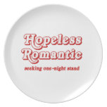 Hopeless Romantic Party Plates