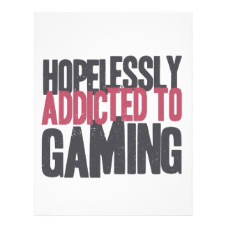 Hopelessly Addicted to Gaming Letterhead