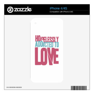 Hopelessly Addicted to Love iPhone 4 Decals