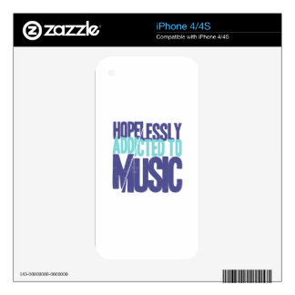 Hopelessly Addicted to music iPhone 4S Skin