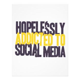 Hopelessly Addicted to Social Media Letterhead