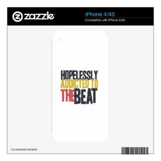 Hopelessly Addicted to The Beat Skin For iPhone 4