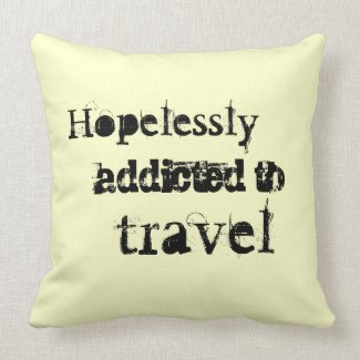 Decorative Pillows Travel Theme : Luggage Tags and Art for Travel Lovers Taken by the Wind