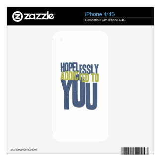 Hopelessly Addicted to You iPhone 4S Decals