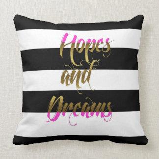 Hopes & Dreams Pink Metallic Pillow