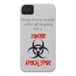 """""""Hopes for a Zombie Apocalypse"""" iPhone 4 Case"""