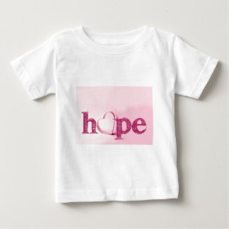 Hope's Heart in Pink - Typography with a Heart Baby T-Shirt