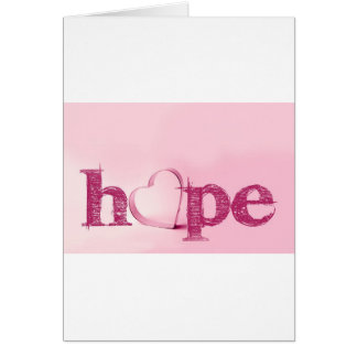 Hope's Heart in Pink - Typography with a Heart Card