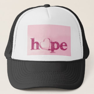 Hope's Heart in Pink - Typography with a Heart Trucker Hat