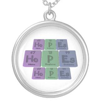 Hopes-Ho-P-Es-Holmium-Phosphorus-Einsteinium.png Round Pendant Necklace