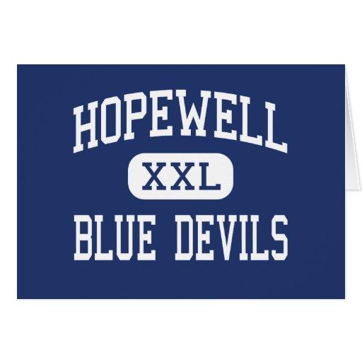 Hopewell - Blue Devils - High - Hopewell Virginia Greeting Card