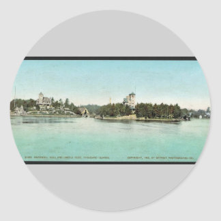Hopewell Hall and Castle Rest, Thousand Islands ra Classic Round Sticker