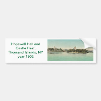 Hopewell Hall & Castle Rest Thousand Islands, NY Bumper Sticker