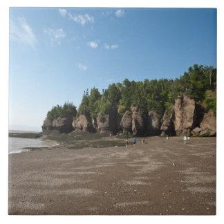 Hopewell Rocks and The Ocean Tidal Exploration Ceramic Tile