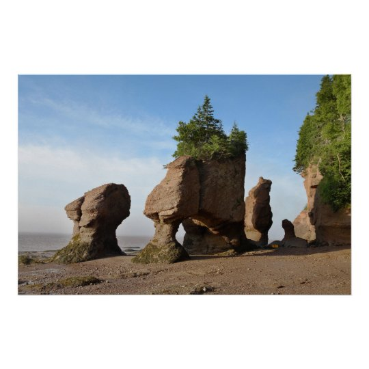 Hopewell Rocks in the sunrise Poster