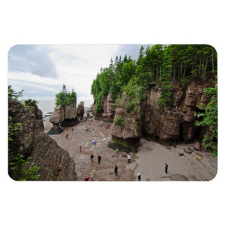 Hopewell Rocks Low Tide Canada Flex Magnet