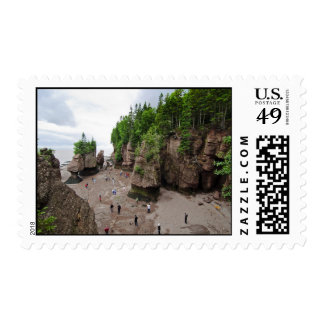 Hopewell Rocks Low Tide Canada Stamps