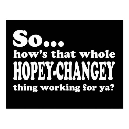 Hopey-Changey Thing Postcard