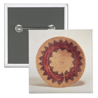 Hopi basket 2 inch square button