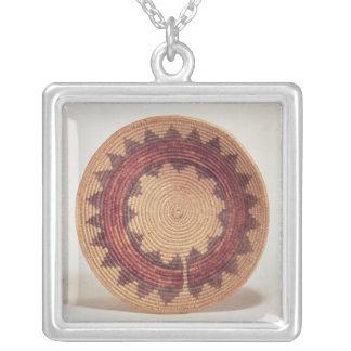 Hopi basket silver plated necklace