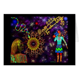 Hopi Blue Star Greeting Card