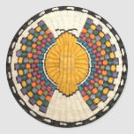 Hopi Butterfly Motif Classic Round Sticker