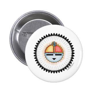 Hopi Dawa (Sun) 2 Inch Round Button