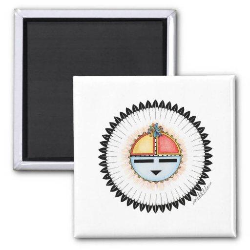 Hopi Dawa (Sun) 2 Inch Square Magnet