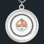 "Hopi Dawa (Sun) Necklace<br><div class=""desc"">Depicts the Hopi vision of the Sun.</div>"