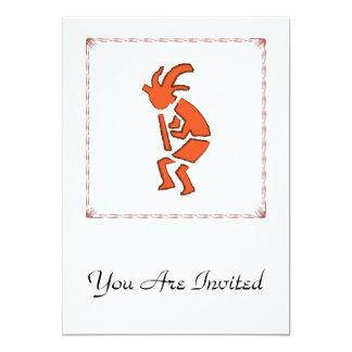 """Hopi Flute Player - Southwest Indian Design 5"""" X 7"""" Invitation Card"""