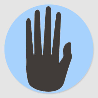 Hopi Hand dot Classic Round Sticker