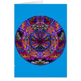 Hopi Healing Prayer Medicine Wheel Mandala Card