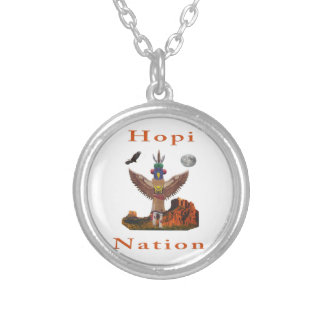 Hopi Indian art Silver Plated Necklace