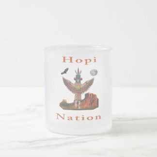 Hopi Indian Items Frosted Glass Coffee Mug