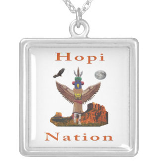 Hopi Indian Items Silver Plated Necklace