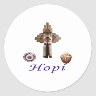 Hopi Indians Designs Classic Round Sticker