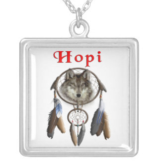Hopi Indians Silver Plated Necklace